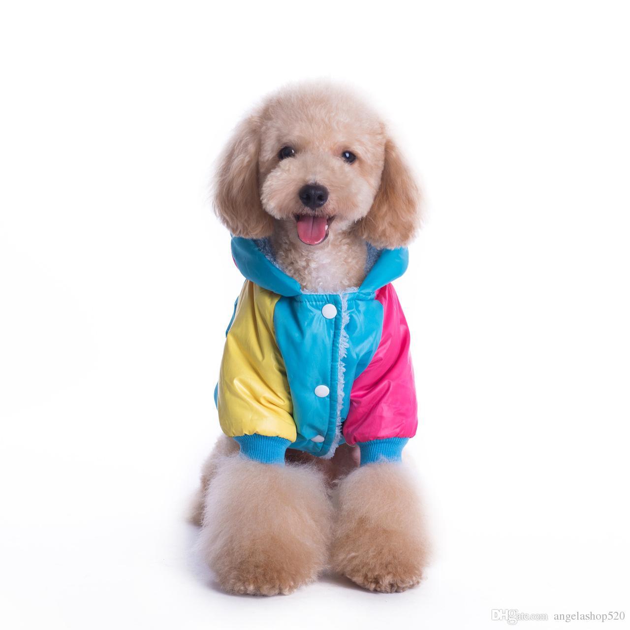 Новое прибытие зимние домашние животные пуховик собака теплое пальто цвет соответствия одежды собака одежда зима верхняя одежда повседневная одежда