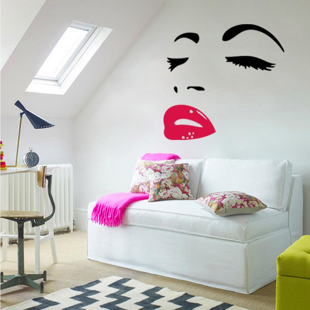 sexy woman audrey hepburn wall art stickers decal diy home decoration wall mural removable room. Black Bedroom Furniture Sets. Home Design Ideas