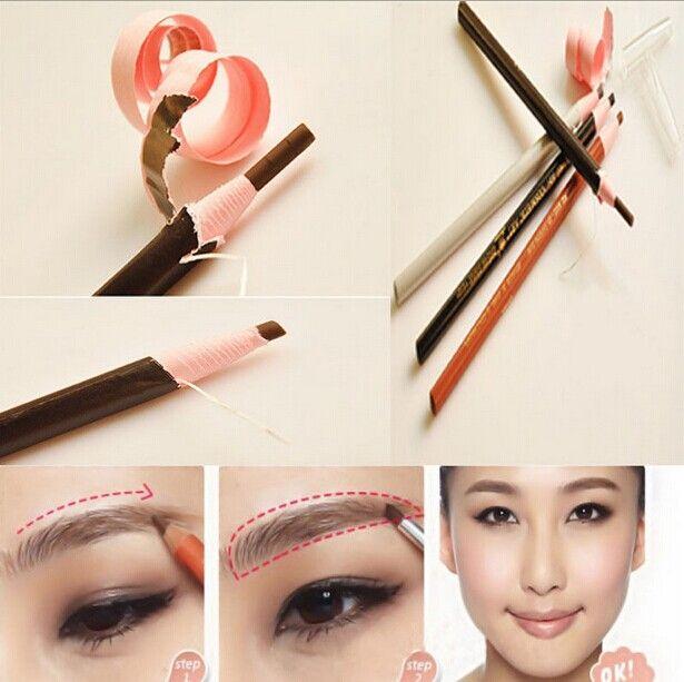 Black, Grey, Light/Deep CoffeeStay Eyebrow Pencil No Shading Easy ...