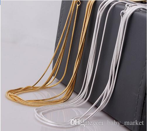 snake chain wholesale 18kgf gold plated snake chain 16 18 20 22 24 26 28 30 inch necklace snake chain
