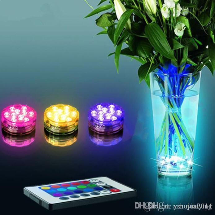 Rgb Multi Colors Remote Control Many Colors Submersible Led Light