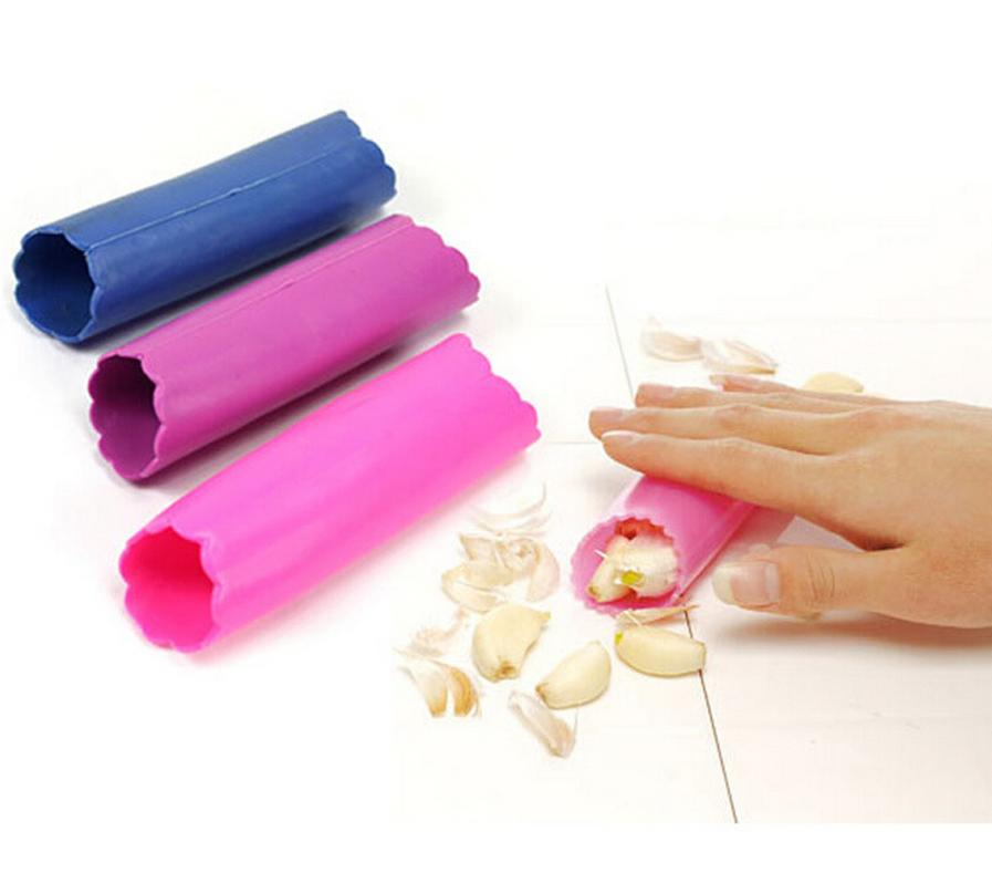 Silicone Garlic Peeler - Random Color Kitchen Gadget Garlic Stripper Tube Peeling Garlic Peeling Vegetable Tools