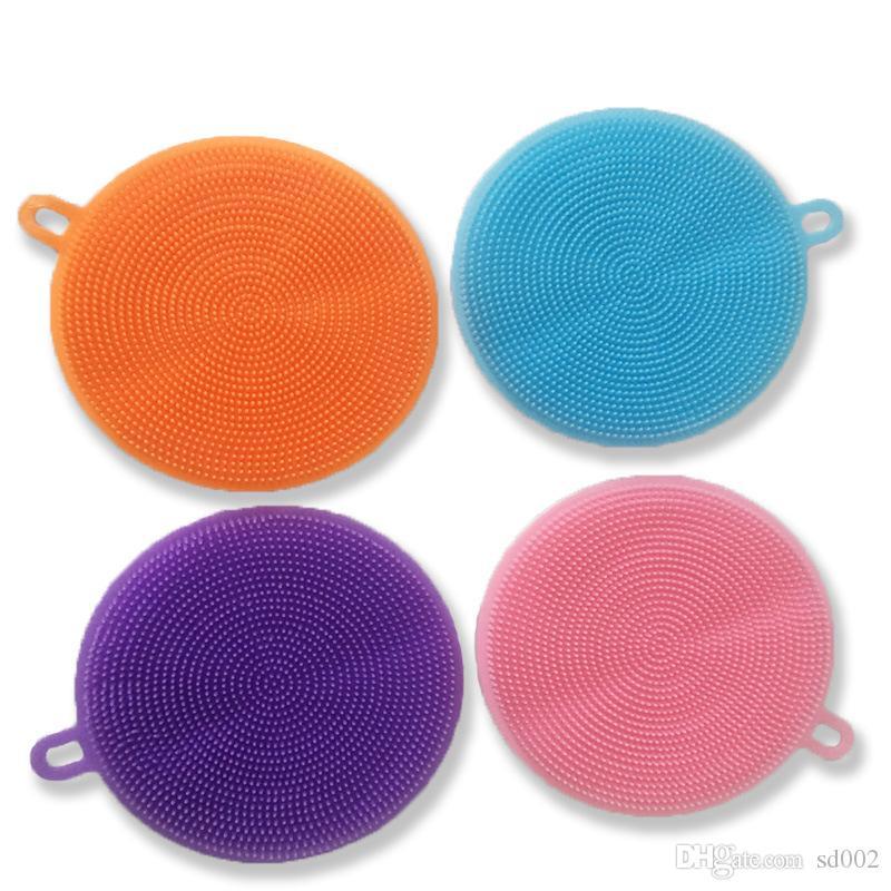 Escova limpa resistente ao calor criativo para ferramentas de limpeza de cozinha colorido silicone de silicone de frutas vegetais pincéis 3 3ad c