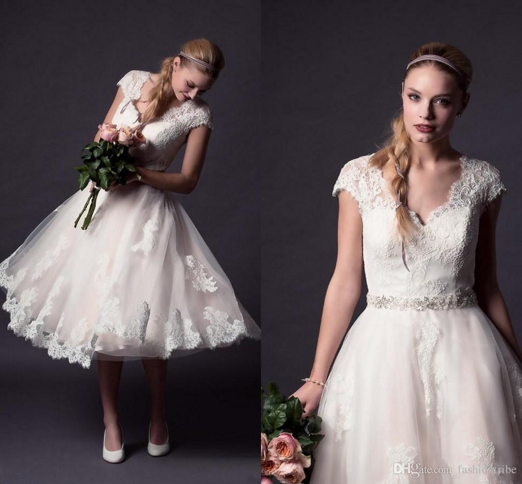 Discount Lace Plus Size Ankle Length A Line Wedding