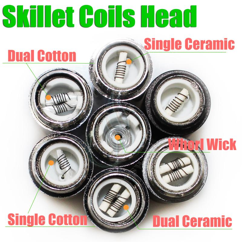 Skillet Atomizer 7 Types Rebuildable Coils Head For