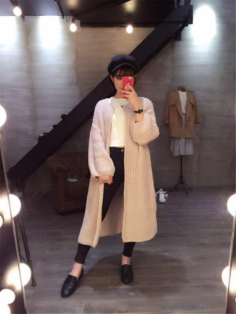 2018 Hot Vintage Super Long Knit Sweater Coat 2015 Fall Fashion ...