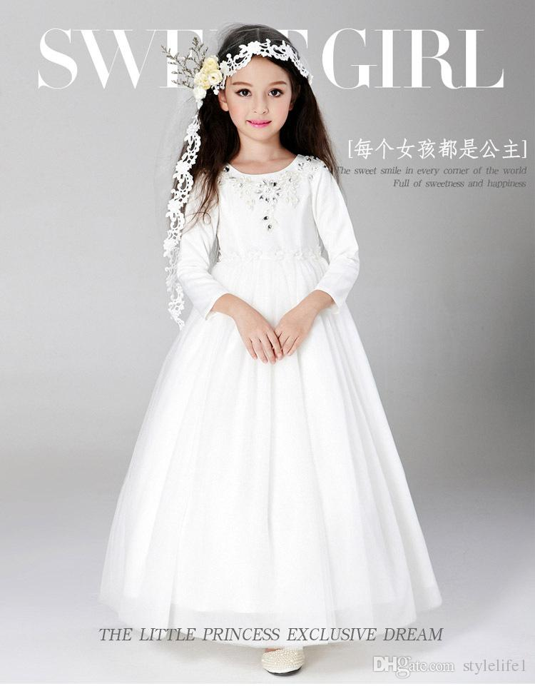 Kids Wedding Dresses 2017 Pentelei With Cap Sleeves And Sweep ...