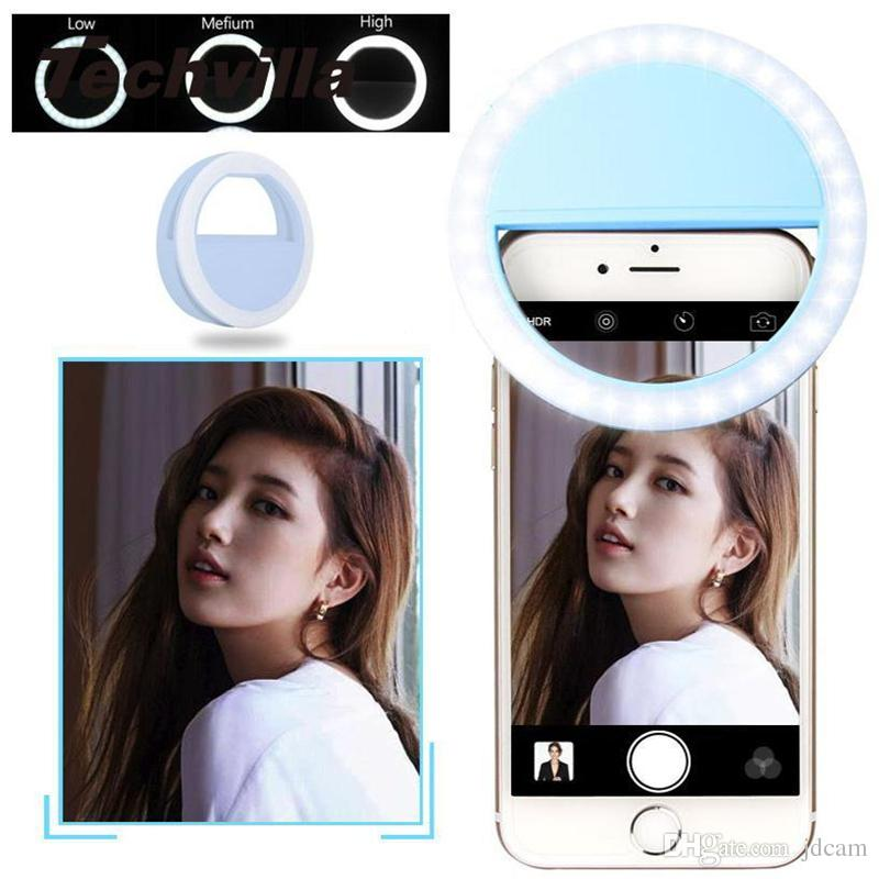 Nice RK12 Universal Selfie Ring Light Flash LED Ring Rechargeable Fill Light  Selfie Lamp Camera Photography Flashes For IPhone Android Retail Box Selfie  Ring ... Images