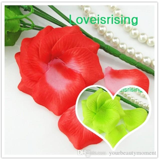 Горячая продажа-5 пачек 720шт серебро высокое качество нетканые ткани искусственный цветок розы лепесток для свадьбы пользу декор