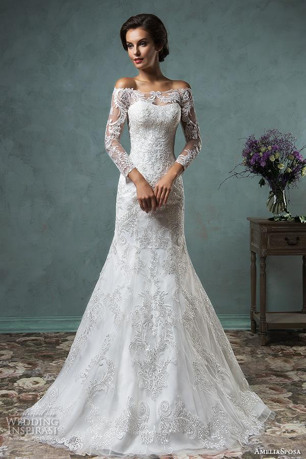 2016 long sleeve lace wedding dresses for muslim amelia sposa 2016 long sleeve lace wedding dresses for muslim amelia sposa wedding gowns off the shoulder bridal gowns casual wedding dress classic wedding dresses from junglespirit Images