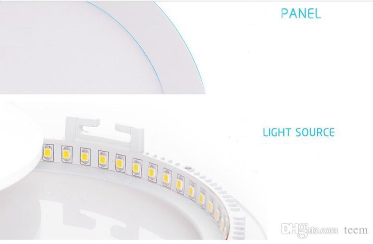 Regulable redondo llevó la luz del panel SMD 2835 3W 9W 12W 15W 18W 21W 25W 110-240V llevó el techo empotrado abajo lámpara SMD2835 downlight + conductor