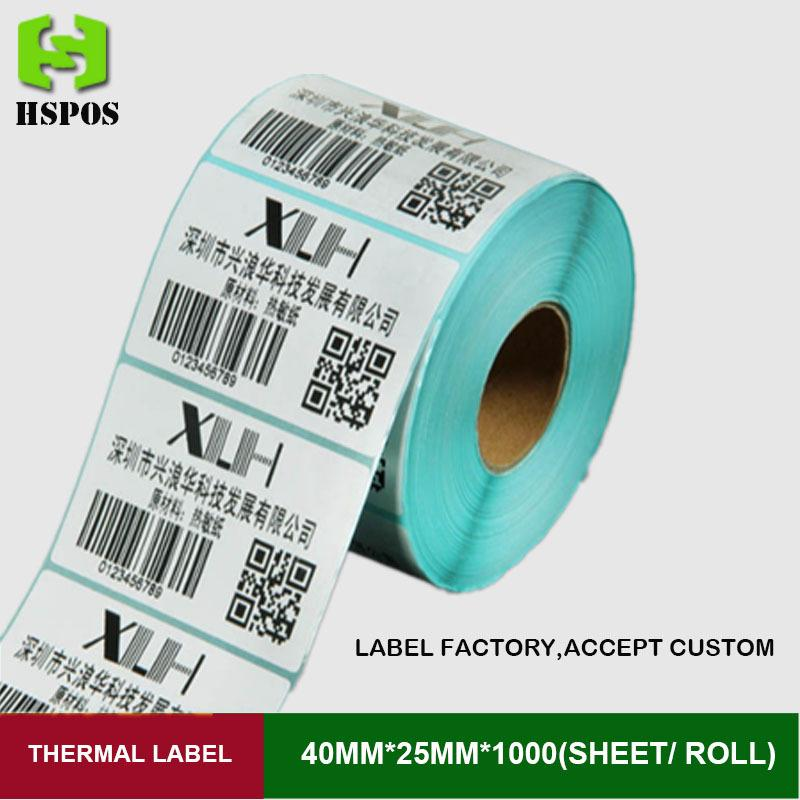 Thermal labels 40x25mm printer paper offer custom logo self adhesive white blank barcode label sticker sticky labels price barcode labels message diaplay