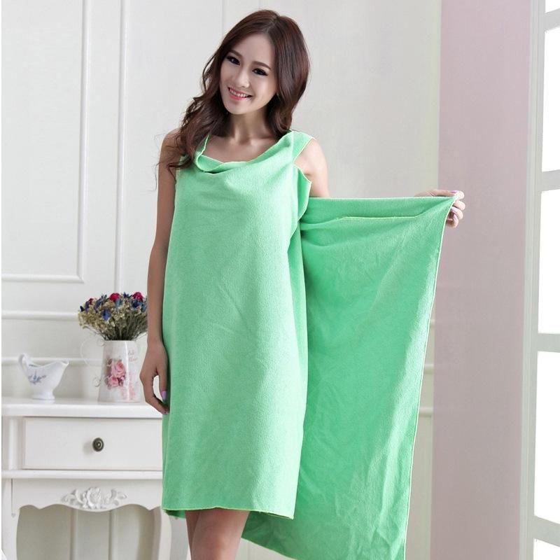 Hot Sales Women Lady SPA Shower Robe Body Wrap Bath Towel Bathrobe Swimwear Dress Gown Absorbent