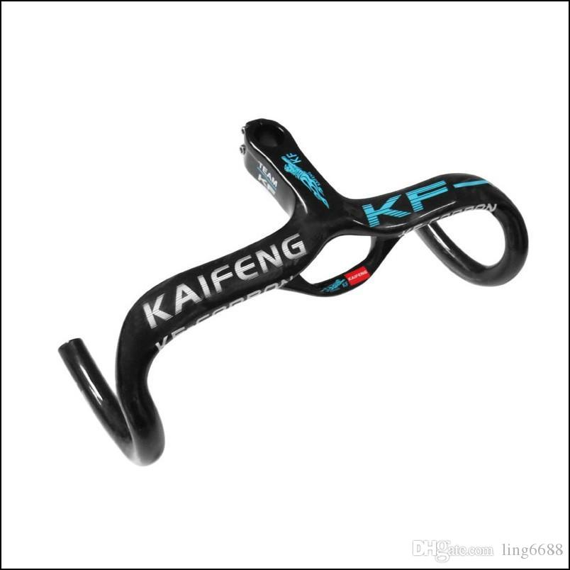 Hot KAIFENG full carbon handlebar bicycle grips handlebar carbon road Bend the road bike Carbon stem integrally KF-17