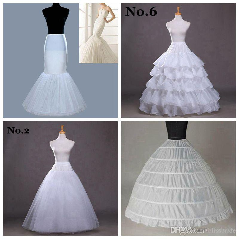 A Line Mermaid Wedding Petticoats 2015 7 Types Hoops Ball Gowns ...