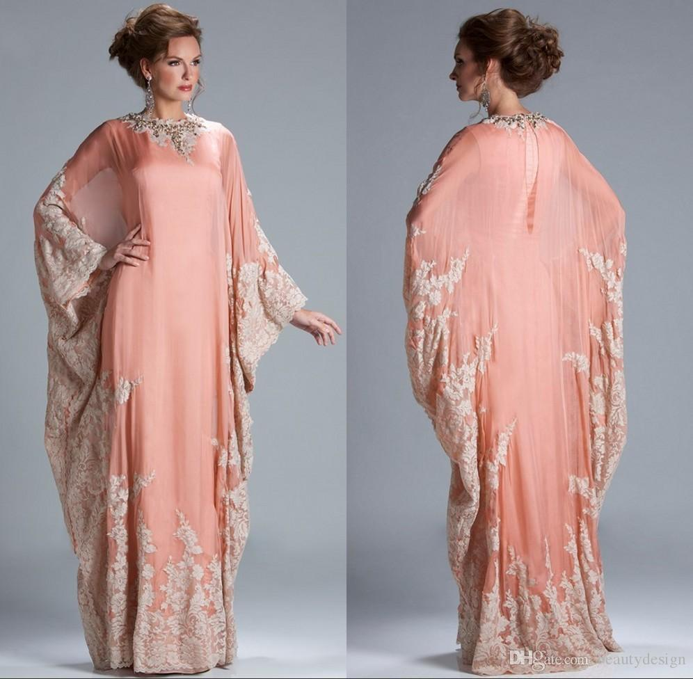 2018 Cheap Mother Of The Bride Dresses Plus Size Chiffon Kaftan ...