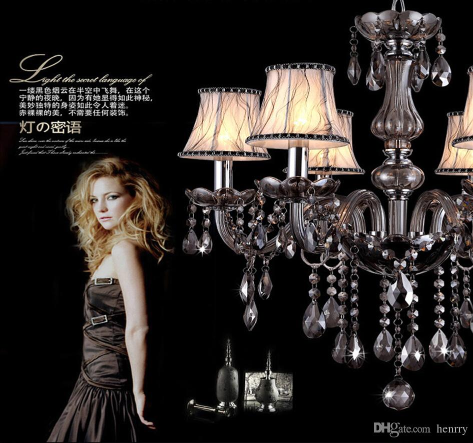 شمعة الطراز الأوروبي الفاخرة شمعة. غرفة الطعام الثريا فيلا الثريات E14 حامل مصباح أضواء معلقة أنيقة