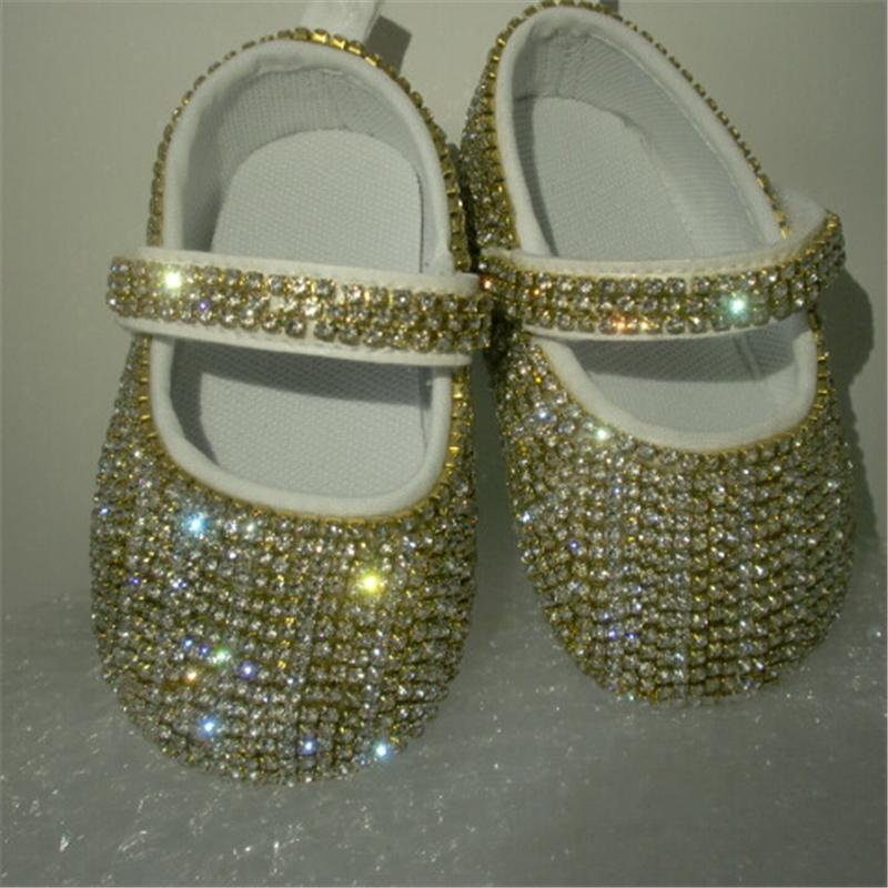 Wholesale- Glass Rhinestones Chain Bling Ballerina Sparkle Baby Cirb ... ca7c3f4c75e2