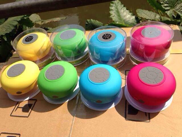 Novo Portátil À Prova D 'Água Sem Fio Bluetooth Speaker Handsfree Do Carro Do Chuveiro Receber Chamada Música Sucção Telefone Mic