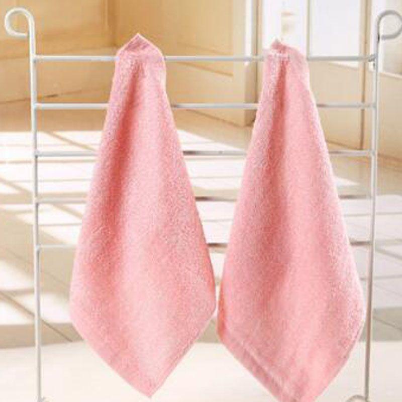 Las toallas de bambú toalla suave franela orgánica del bebé de la cara bordada a mano toallita Toallitas 25x25cm Verde Rosa Azul Amarillo