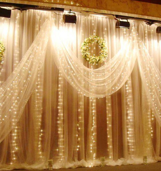 300 LED Lights 3m*3m Curtain Lights Waterproof Christmas Ornament Light Flash Wedding Colored Light Fairy Lights LED Strip Lighting Strips