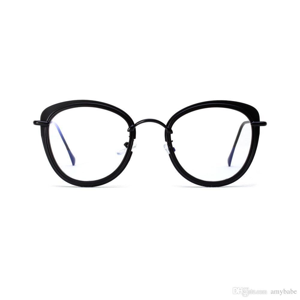 40840af0101 Vintage Fashion Popular Cat Eyeglasses Metal Frames Flat Clear Lens Lens  Width  50mm For Women And Men 3256 Custom Sunglasses Heart Shaped  Sunglasses From ...