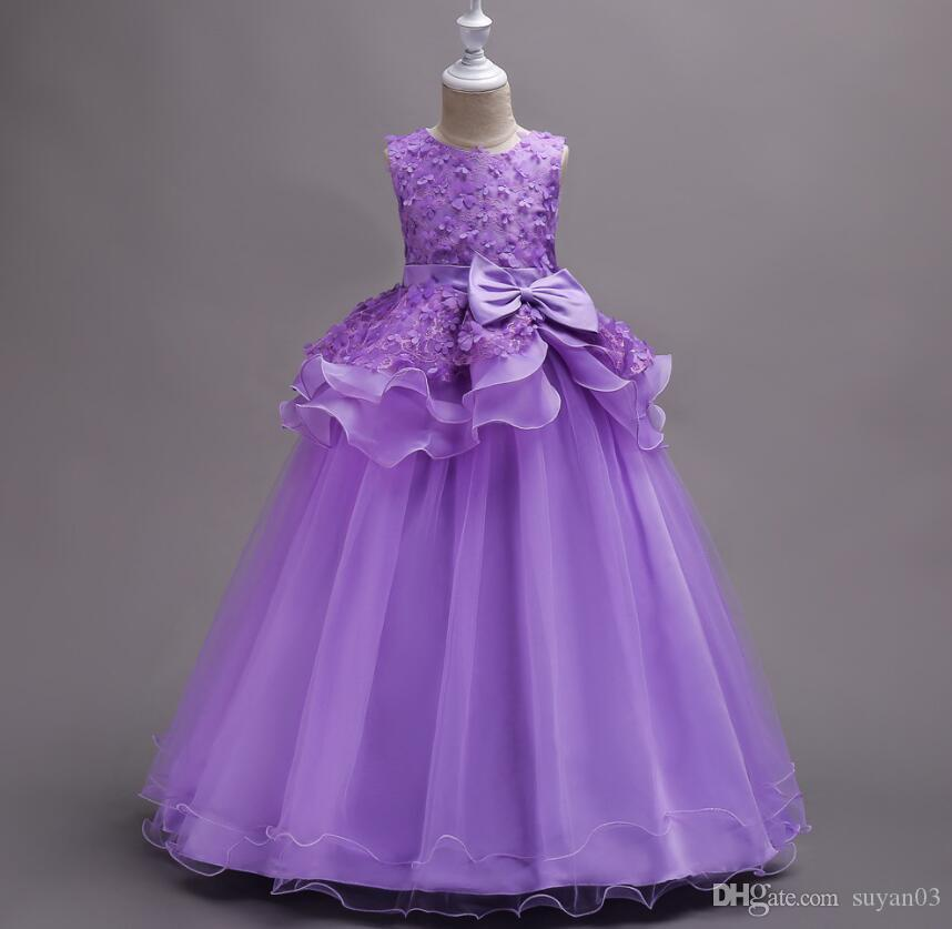5 16y Teenager Girls Dresse For Birthday Party Kids Party Ball Gown ...