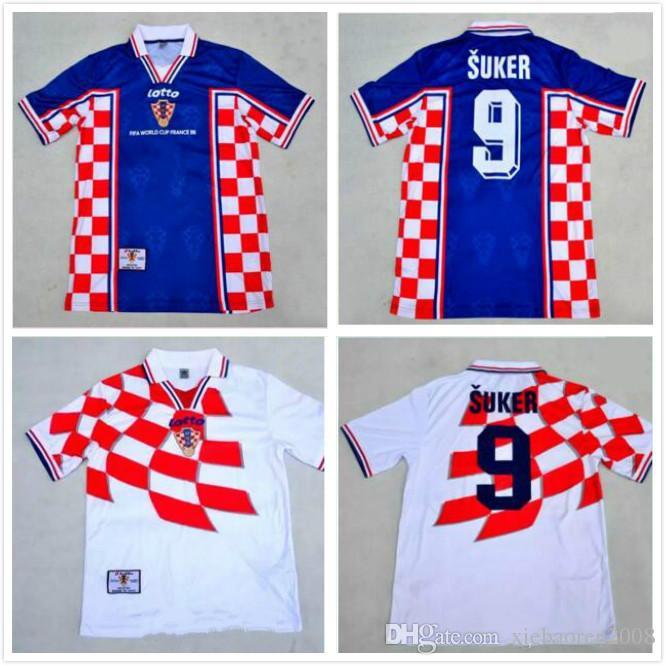 1998 croatia world cup home jersey  best 1998 croatiaes world cup soccer  jerseys 98 retro jerseys hrvatska modric hns national team away 1a65b1359