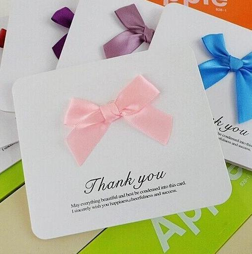 simple mini thank you card adorned with cute bowknot elegant thanksgiving day gift card birthday cards greetings birthday cards online from gloriafrank021