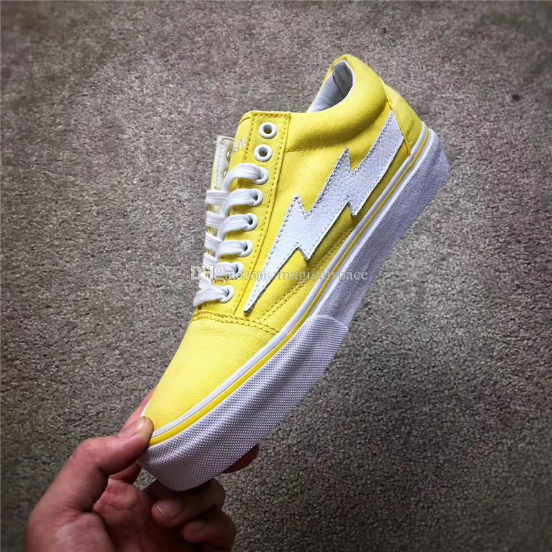 dd82d76088c2 2019 2017 Kanye West Revenge X Storm Pop Up Yellow Joint Limited Ian  Connors Skateboarding Shoes Vanse Men Women Skateboarding Shoes With Box  From ...
