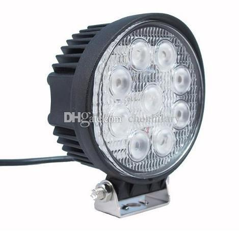 4 inch 27W LED Work Lights Off-road Driving Flood Spot 4WD 4X4 Headlights Jeep Truck ATV Boat Lamp 12V 24V