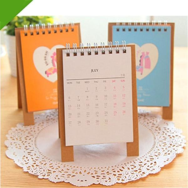 Discount 2015 Mini Cartoon Animal Stand Paper Table Calendar ...