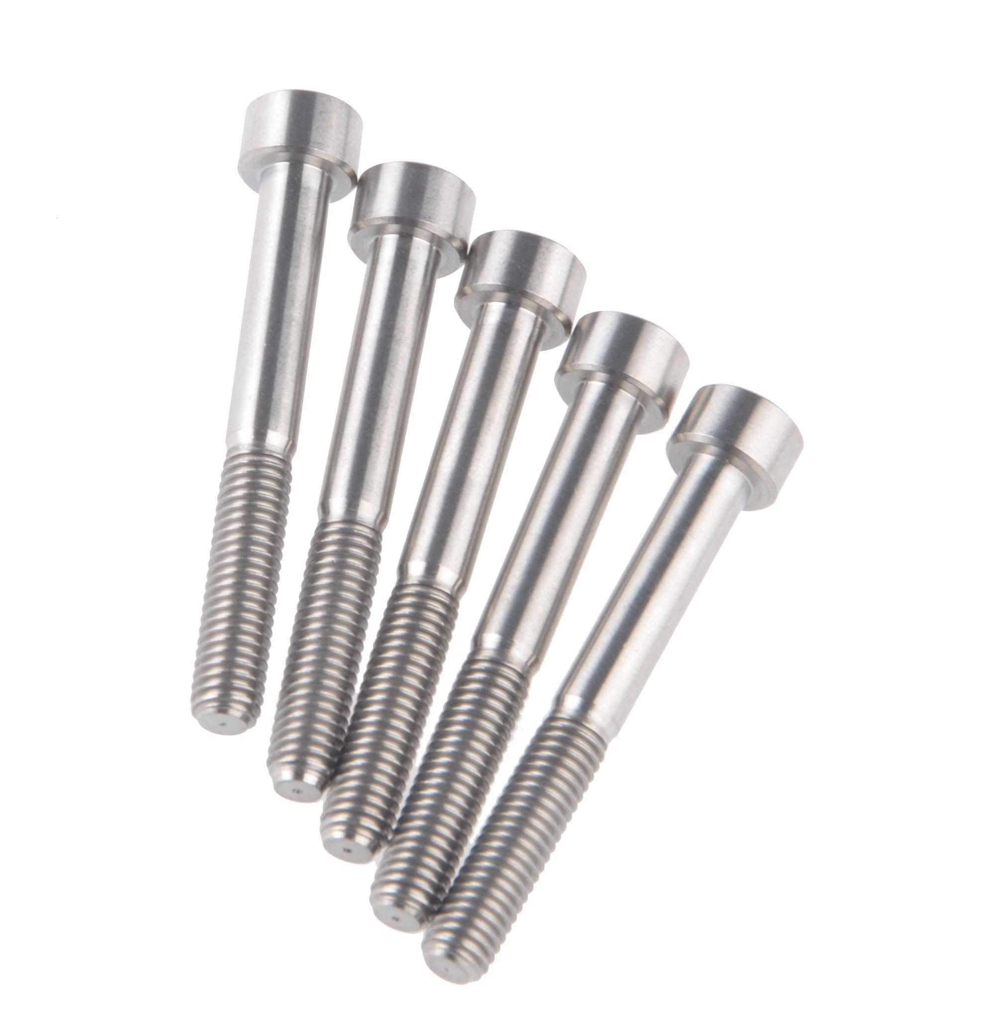 5pcs M6 x 50mm DIN912 Titanium Ti Screw Bolt Allen Hex Socket Cap Head