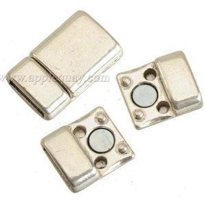 보석 액세서리 자석 clasps 보석 DIY 플랫 와이드 가죽 팔찌 목걸이 걸이 도매 골동품 실버 10mm 구멍 을 토글