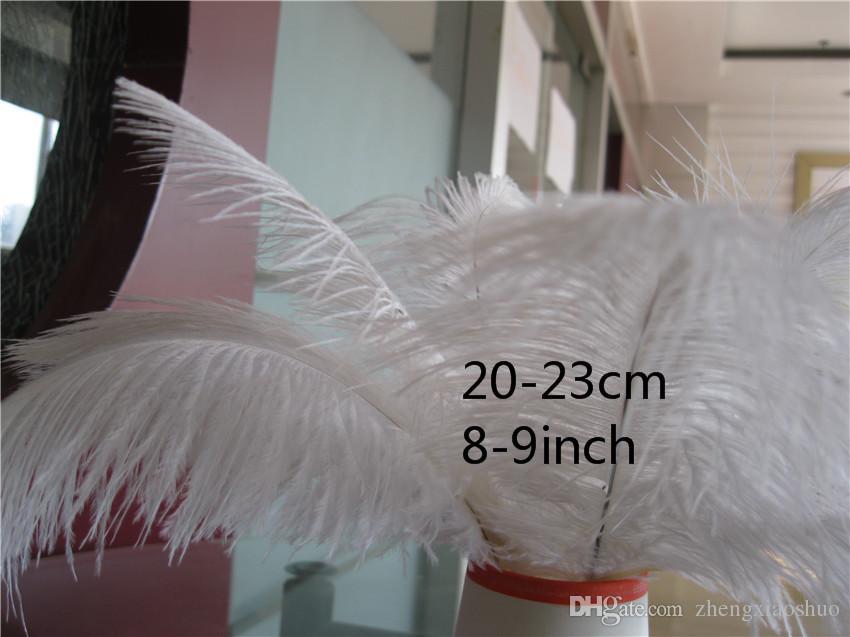 도매 / 8-9inch 화이트 타조 깃털 깃털, 결혼식 깃털 Centerpieces 홈 decoraction 파티 이벤트 공급