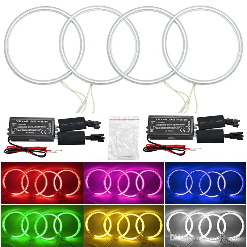 LEEWA Car CCFL Angel Eyes Light Halo Rings Kits Headlight For Toyota Camry 07Euro/US DRL #4843