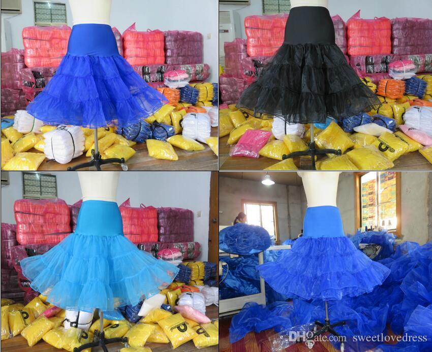 Livraison gratuite Short Court Organza Jupon Crinoline Vintage De Mariage Jupon De Mariée pour Robes De Mariée Jupon Rockabilly Tutu Rock