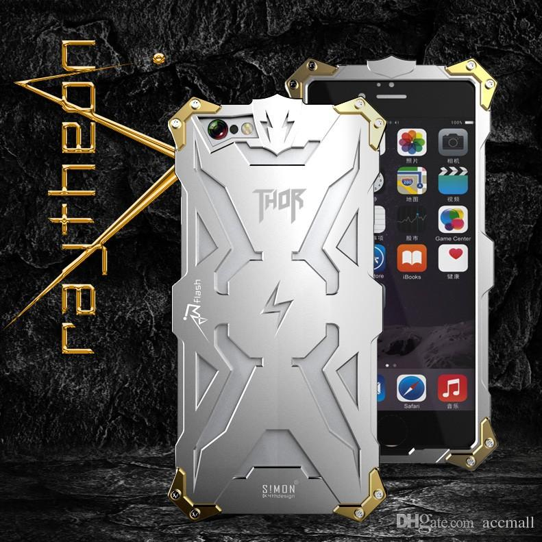 Luxury Aluminum Metal Thor Iron Screw Shockproof Bumper Case Cover For Samsung Galaxy Huwei Cell Phone iPhone 5 5S 6 6S Plus 4.7 5.5 inch