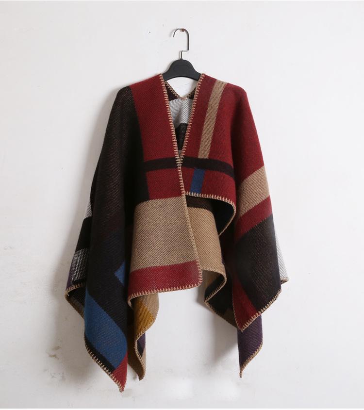 Yeni Boy kaşmir eşarp battaniye sPashmina coat bayan kadın moda yün karışımı eşleşen ekose açık şal