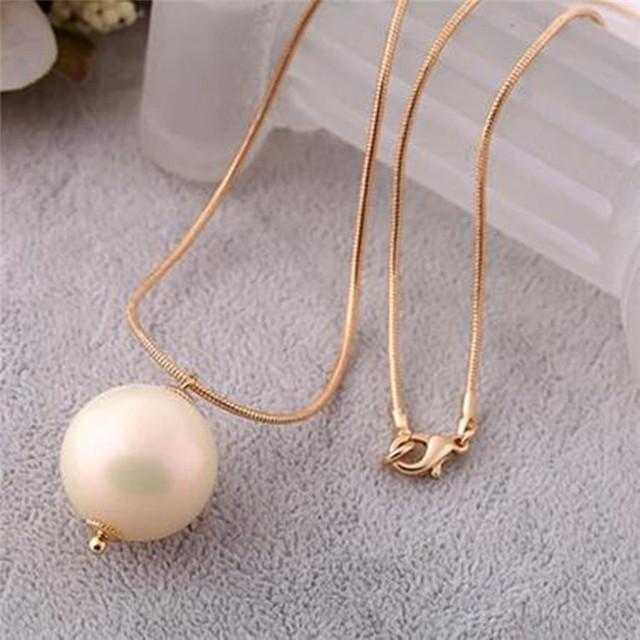 Wholesale korean sweet and elegant single large pearl pendant korean sweet and elegant single large pearl pendant necklace female long sweater chain accessories european style mozeypictures Gallery