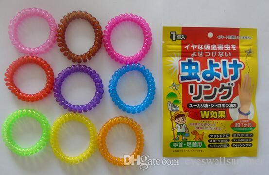 Супер красиво Комаров ленточные браслеты Anti Mosquito чистый природный детские браслеты с розничной упаковке смешанных цветов