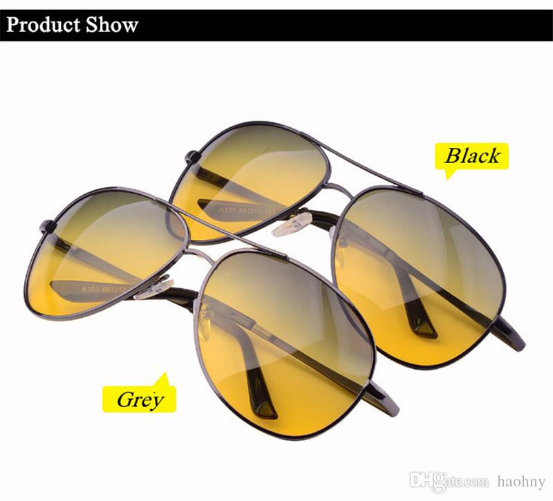 2f222915162 Night Vision Driving Sunglasses For Men Yellow Lens Day And Night Polarized  Sunglasses Uv ..