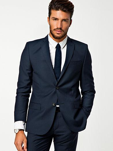 New Mens Wedding Suits For Men Navy Blue Grooms Tuxedos Notched ...
