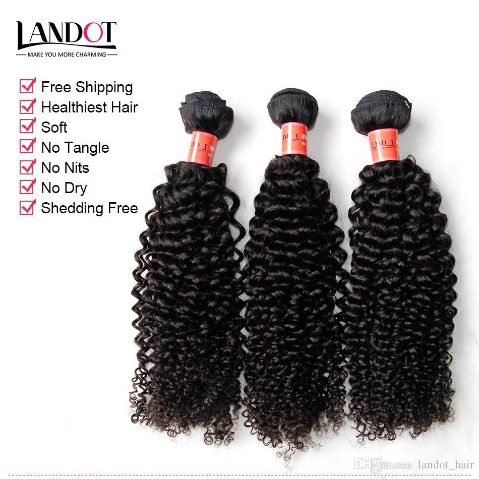 Brésilien Curly Vierge Cheveux Tissu Sans touriscian Péruvien Malaisien Cambodge Cambodge Mongolie Courby Courly Remy Cheveux humains 3/4 Bundles