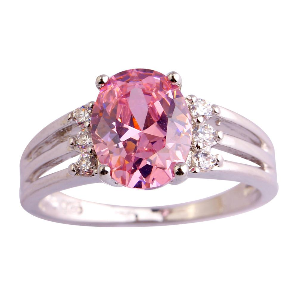 2018 Wholesale Romantic Love Style Jewelry Pink & White Sapphire Aaa ...