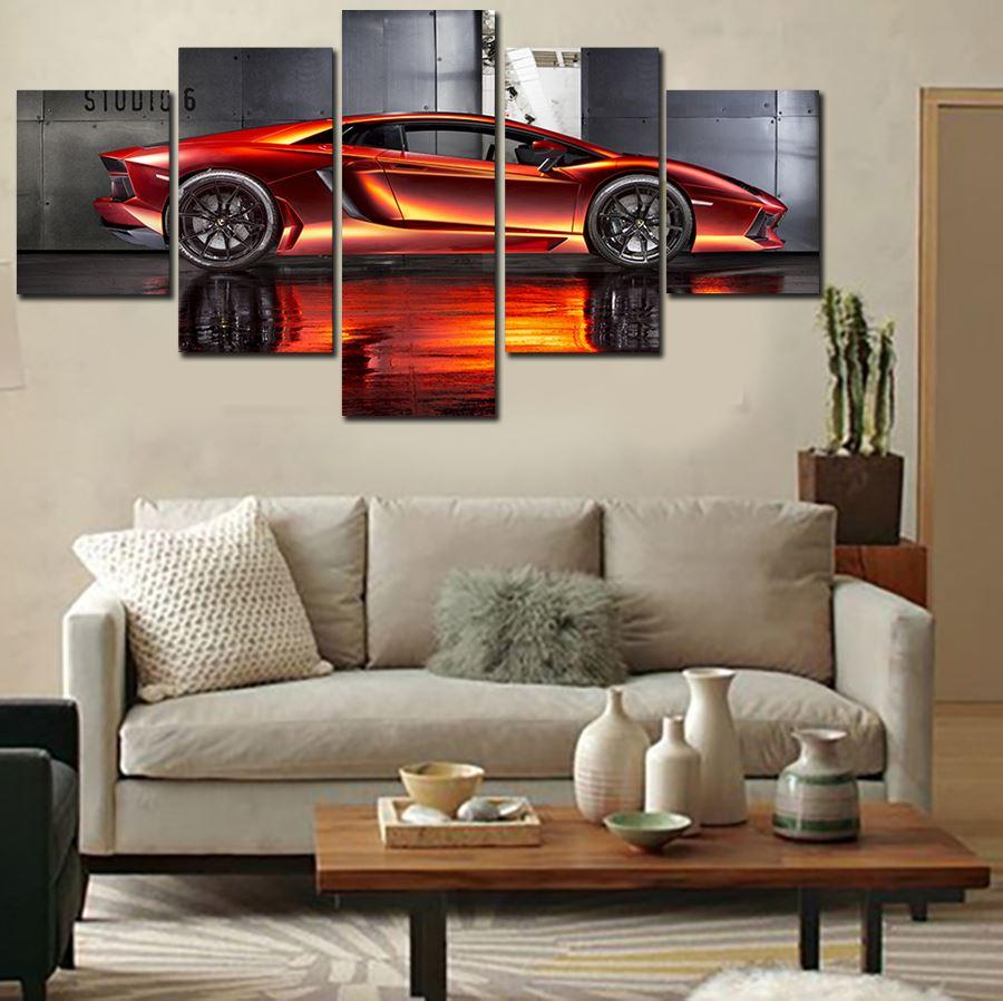 Unframed 5 Pcs supercar HD Canvas Print Painting Modern Home Wall Decor Canvas Art HD Picture Paint on Canvas Prints Artwork