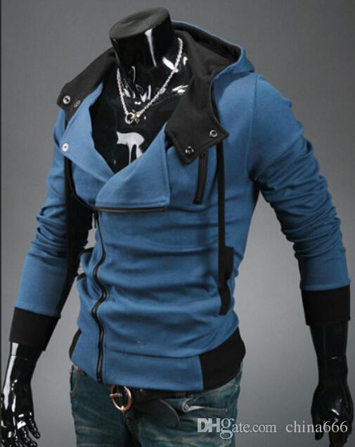 dorp SHIPPING New Assassin's Creed 3 Desmond Miles Hoodie Top Coat Jacket Cosplay Costume, assassins creed style Hooded fleece jacket, @dds