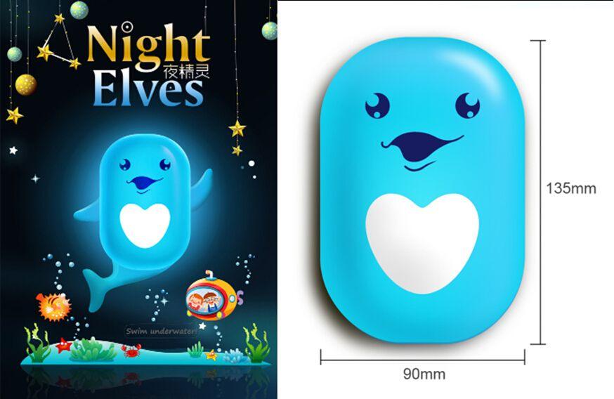 Creative wallpaper elf controlled night light a bag , LED energy-saving night light sensor, cartoon scene try Nightlight