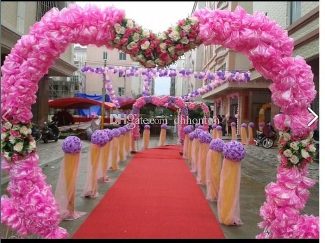 Fiori artificiali di 12 pollici Fiori artificiali della palla di rosa della seta di seta del ponente di seta che baciano la palla di fiore della palla decora la decorazione del mercato del giardino di nozze