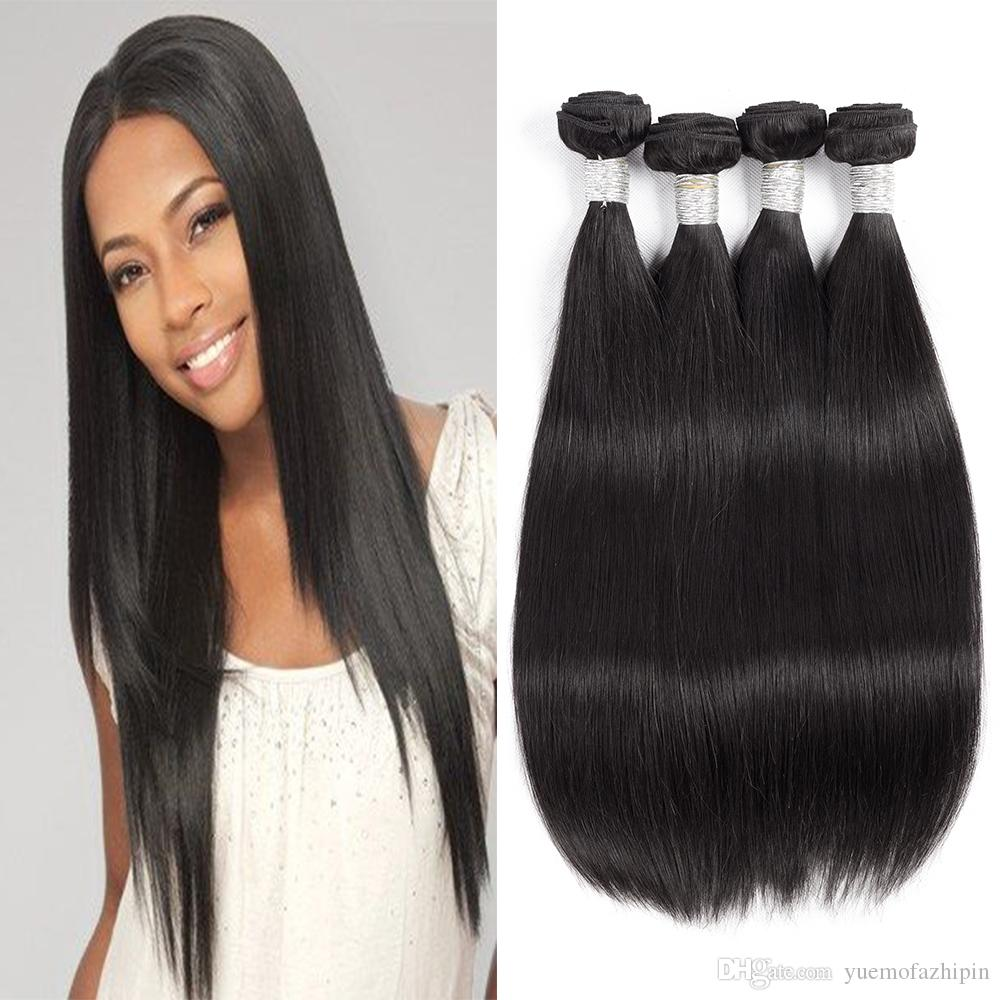 Cheap Grace Length Only Malaysian Straight Hair 100 Human Bundles 100g None Remy Weaving Extensions Weave